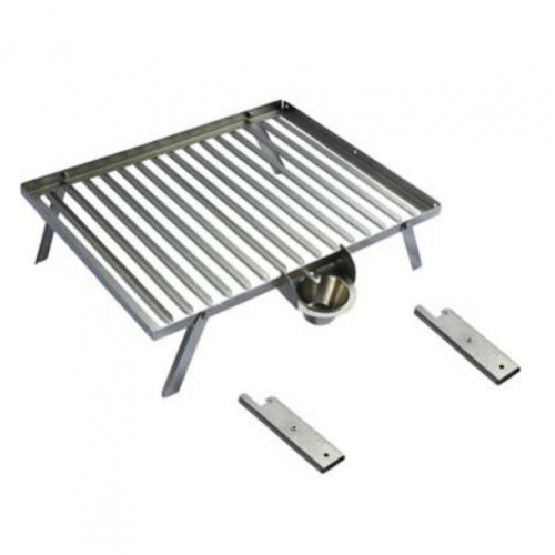 PARRILLA INOX PLEGABLE 55X43