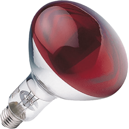 LAMPARA INFRAROJOS E27 250W ROJA